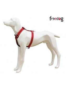 Arnés Comfort Reflectante Rojo Freedog