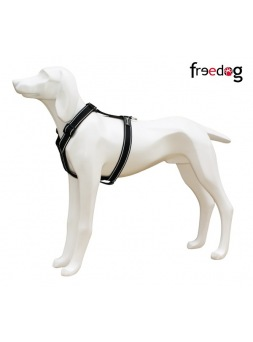 Arnés Comfort Reflectante Negro Freedog