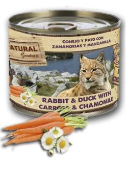 Natural Greatness Conejo y Pato con Zanahorias y Manzanilla