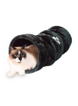 Túnel de juego para gatos Negro